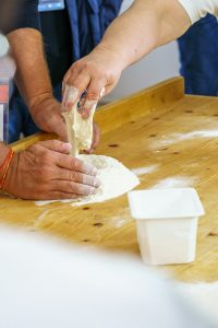 Preparing dough for fresh pasta
