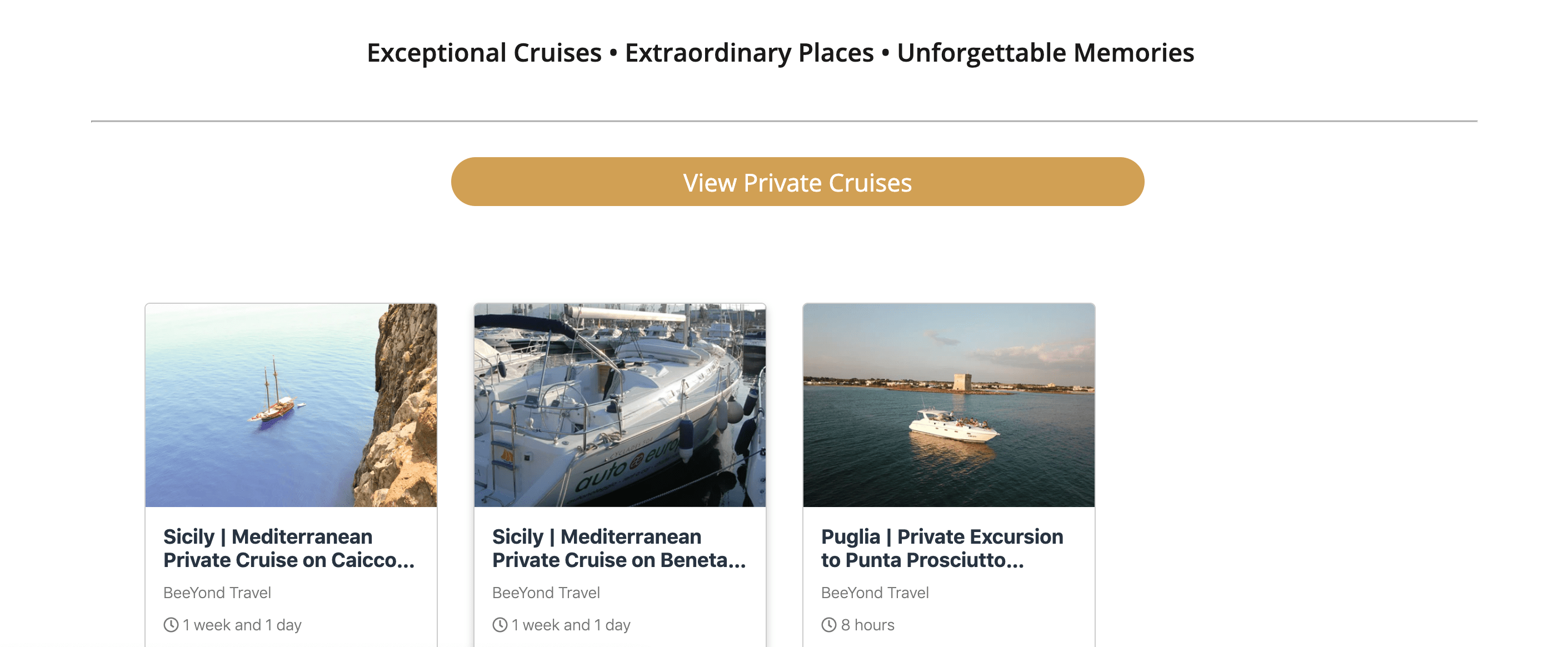 Cruise Tours Puglia, Sicily, Eolian Islands