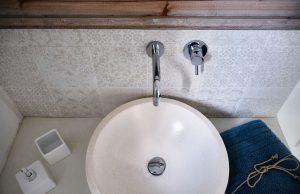 bathroom details vacation villa in Puglia