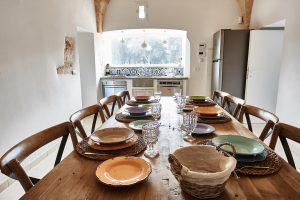 dining table luxury villa Puglia