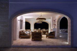 chill area by night luxury villa Puglia