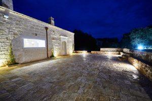 villa in the night Puglia