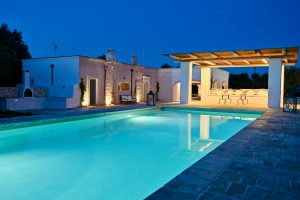 pool by night luxury villa