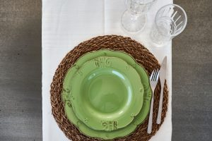 table setting vacation villa in Puglia