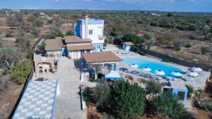 Aerial of Quiet and Luxury Villain Puglia