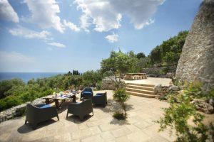 Villa Myrtos steps