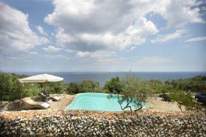 Villa Myrtos sun umbrella