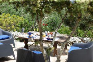 Villa Myrtos garden and snack