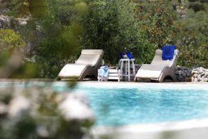 Villa Myrtos beach chairs