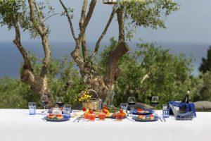 Villa Myrtos lunch served