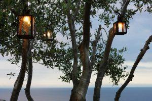 Villa Myrtos night lanterns