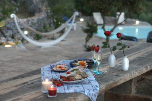 Villa Myrtos outdoor lunch