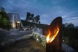 Villa Myrtos fire pit 2