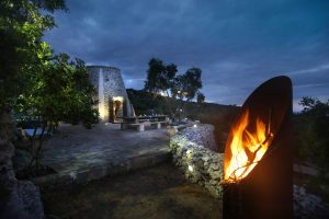 Villa Myrtos fire pit