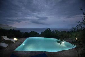 Villa Myrtos pool night