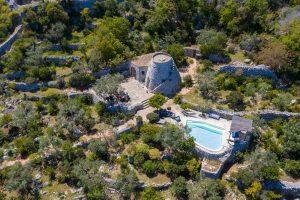Villa Myrtos mid aerial
