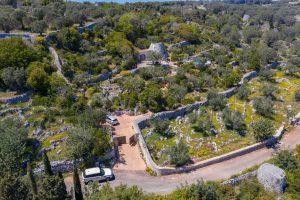 Villa Myrtos aerial street