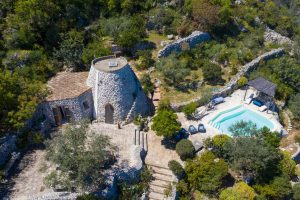 Villa Myrtos close aerial