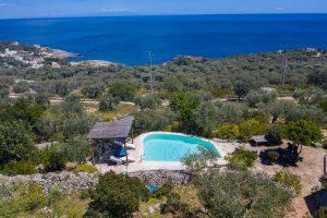 Villa Myrtos aerial pool
