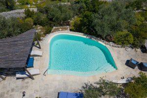 Villa Myrtos pool aerial