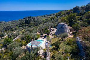Villa Myrtos aerial