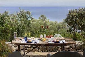 Villa Myrtos romantic snack