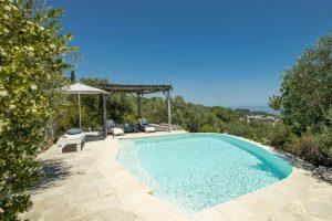 Villa Myrtos pool in Salento