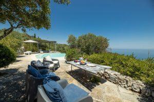 Villa Myrtos outdoor living